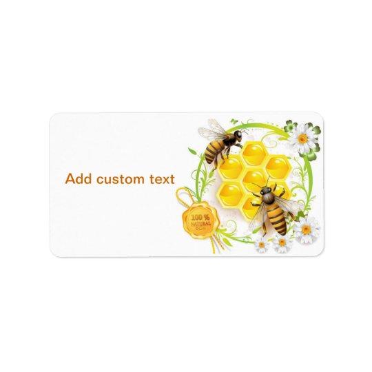 Honey Bee Beekeeper Apairist Custom Label