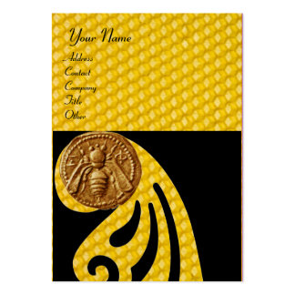HONEY BEE ,BEEKEEPER APIARIST LARGE BUSINESS CARD