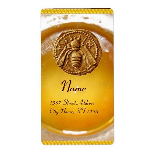 HONEY BEE ,BEEKEEPER / apiary,beekeeping supplies Shipping Label