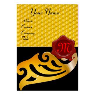 HONEY BEE ,BEEKEEPER RED WAX SEAL MONOGRAM LARGE BUSINESS CARD