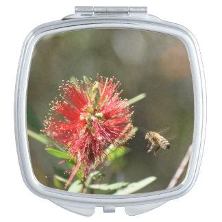 HONEY BEE & BOTTLE BRUSH RURAL AUSTRALIA TRAVEL MIRRORS