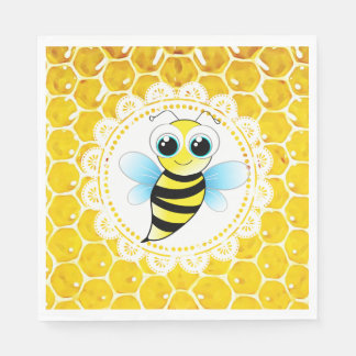 Honey Bee Bumblebee Themed Baby Shower Napkins