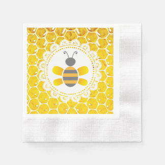 Honey Bee Bumblebee Themed Baby Shower Napkins