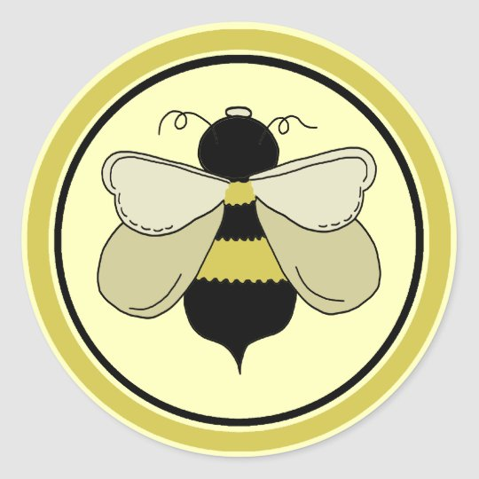 Honey Bee Classic Round Sticker