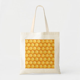honey bee comb texture tote bag