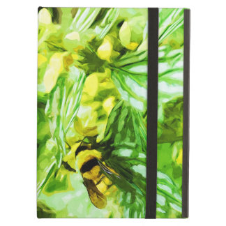 Honey Bee Gathering Pollen Abstract Impressionism Cover For iPad Air