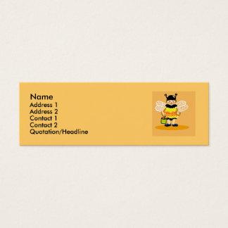 Honey bee happy mini business card