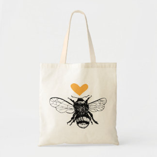 Honey Bee Heart Tote