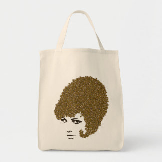 Honey Bee hive Hair-do Tote Grocery Tote Bag