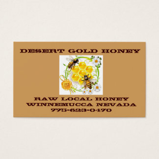 Honey Bee Honey Seller Beekeeper Apiarist Business Card