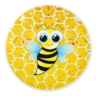 Honey Bee Honeycomb Cabinet Knobs