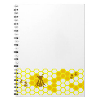 Honey Bee Honeycomb Pattern Notebook