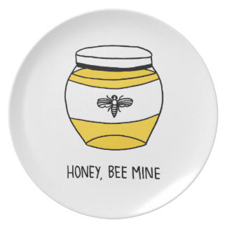 Honey, Bee Mine Party Plate