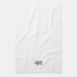 Honey Bee Monogrammed Kitchen Towel