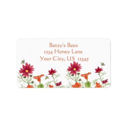 Honey Bee Nasturtium Red Painted Daisy