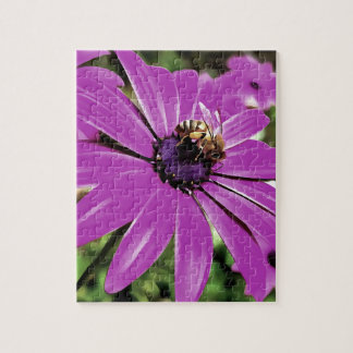 Honey Bee On a Spring Flower Jigsaw Puzzle