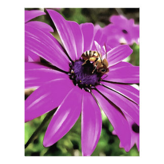 Honey Bee On a Spring Flower Letterhead