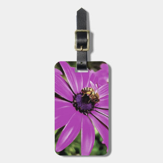 Honey Bee On a Spring Flower Luggage Tag