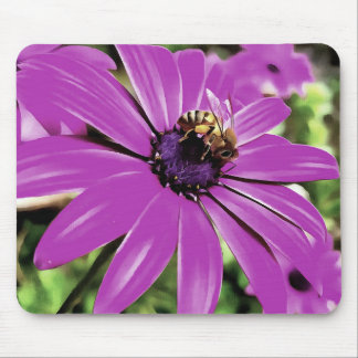 Honey Bee On a Spring Flower Mouse Pad