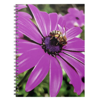 Honey Bee On a Spring Flower Spiral Notebooks