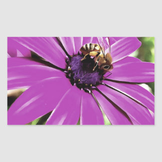 Honey Bee On a Spring Flower Sticker