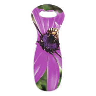 Honey Bee On a Spring Flower Wine Bag