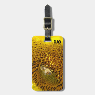 Honey Bee On a Sunflower Luggage Tag