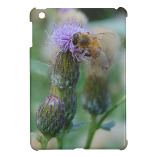 Honey Bee on Thistles Cover For The iPad Mini