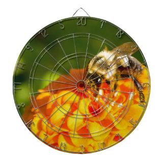 Honey Bee  Orange Yellow Flower With Pollen Sacs Dartboard