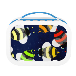 Honey Bee Pattern Lunch Box