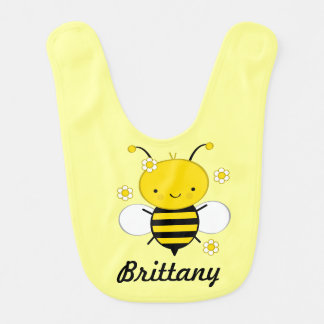 Honey Bee Personalized Infant Baby Bib