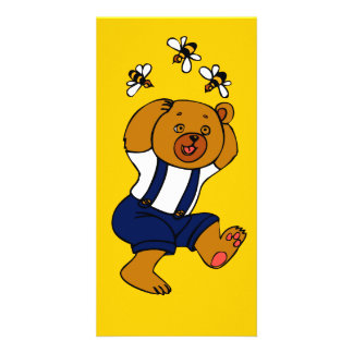 Honey Bee Customized Photo Card