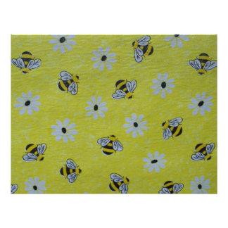 Honey Bee Scrapbooking Paper Custom Letterhead