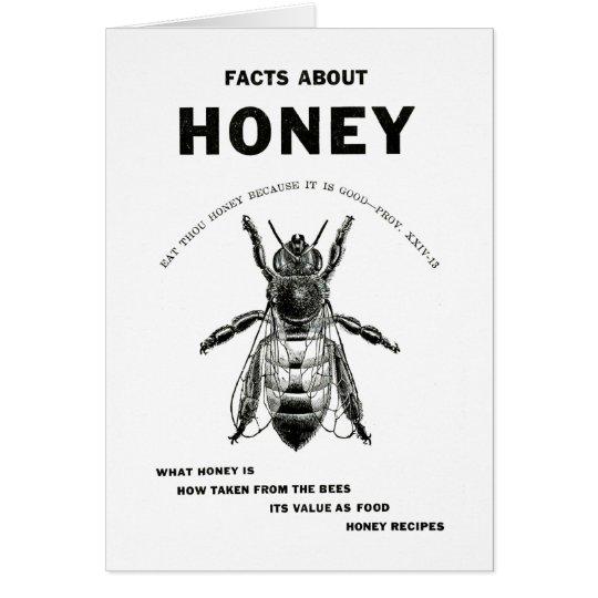 Honey Bee Vintage Advertising Greeting Card
