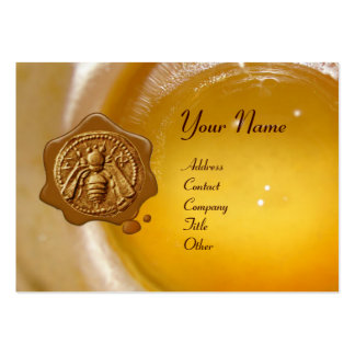 HONEY BEE WAX SEAL ,BEEKEEPER /beekeeping supplies Business Card Template