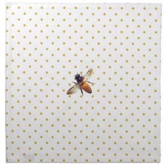 Honey Bee with gold polka-dots Napkin