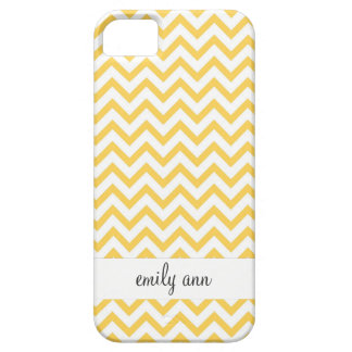 Honey Bee Yellow Chevrons Pattern iPhone 5 Case