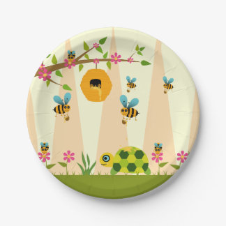 Honey Bees And A Turtle Paper Plates