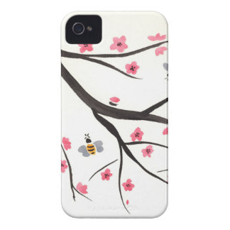 Honey Bees and Cherry Blossoms iPhone 4 Case-Mate Cases