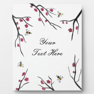 Honey Bees and Cherry Blossoms Plaque