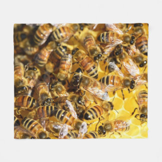 Honey Bees Fleece Blanket