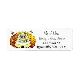 Honey Bees Hive Return Mailing Address Label