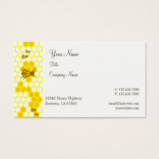 Honey Bees Honeycomb Custom Business Cards