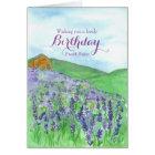 Honey Bees Lavender Field Happy Birthday Sister Card