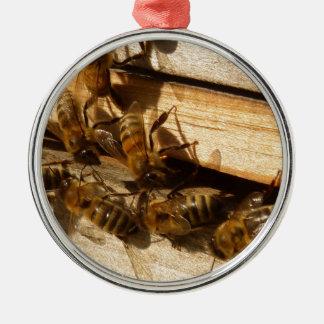 Honey Bees Metal Ornament