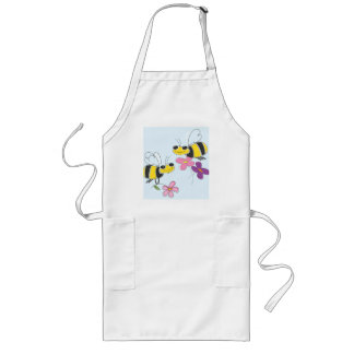 Honey Bees & Spring Flowers Long Apron