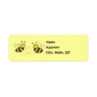 Honey Bees with Heart Return Address Label