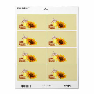 Honey Blank Large Shipping labels