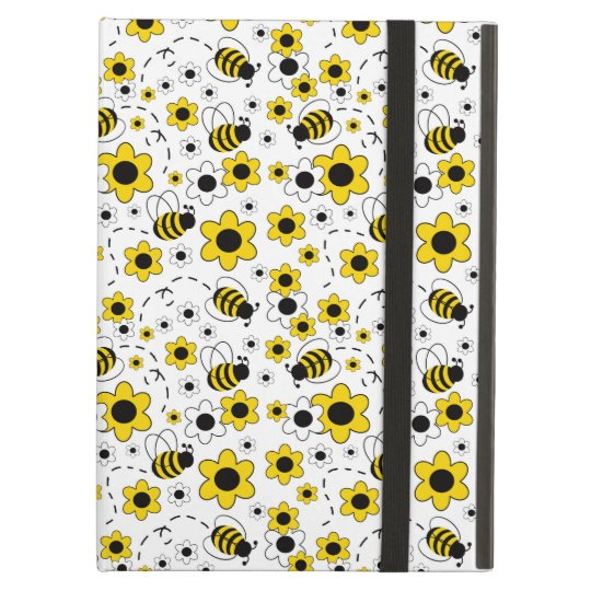 Honey Bumble Bee Bumblebee Girl Yellow Floral iPad Air Cover