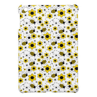 Honey Bumble Bee Bumblebee White Yellow Floral iPad Mini Cover